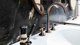 Armatur Dornbracht: Dark Platinum matt beschichtet | Waschbecken Domovari